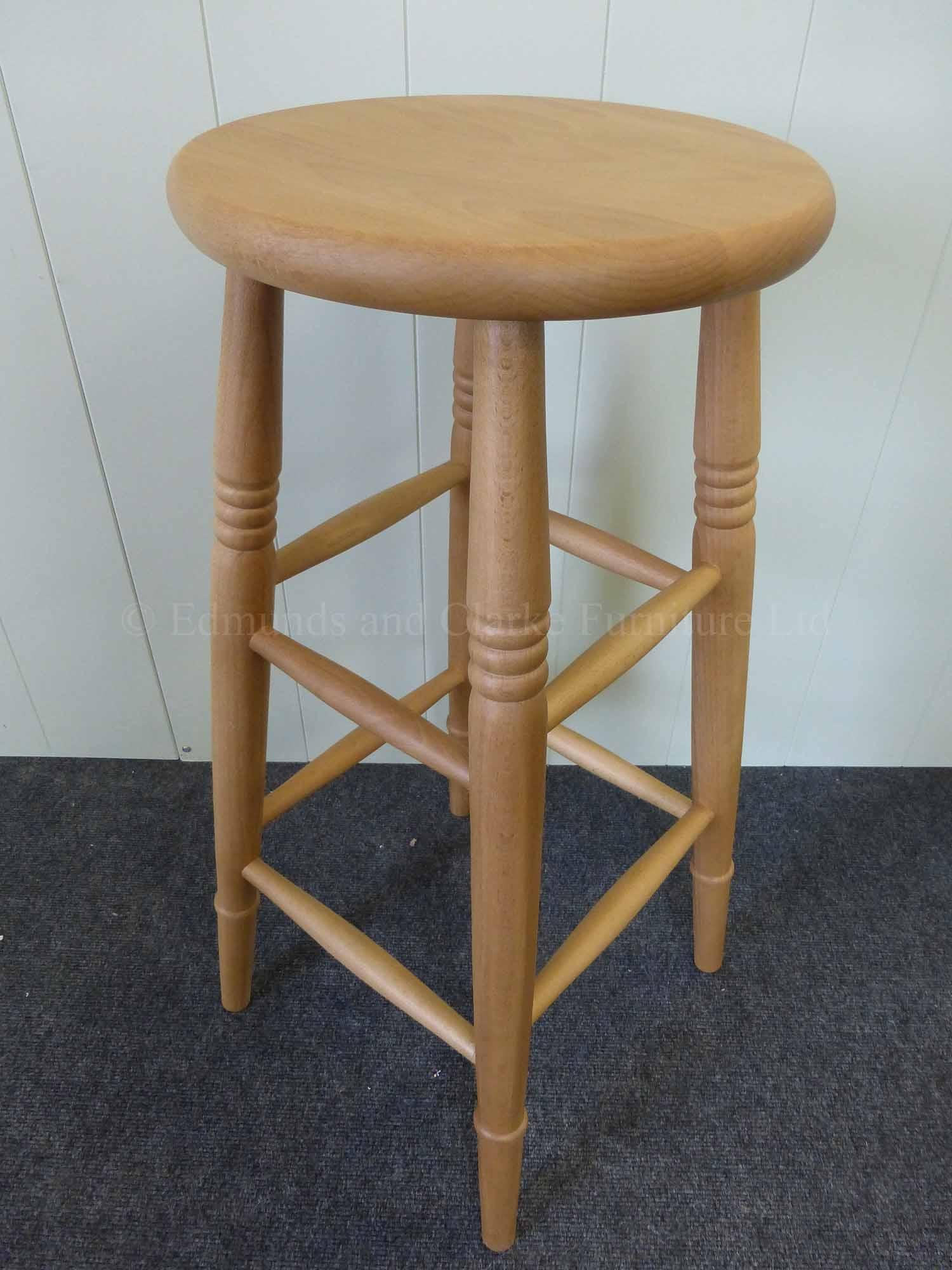 High farmhouse stool waxy lacquer
