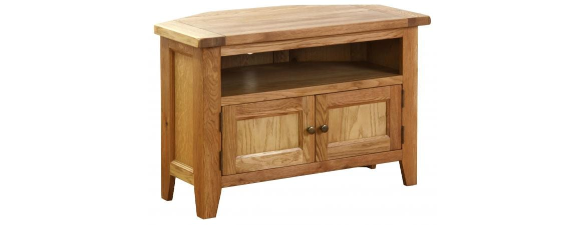 NB037 oak corner tv unit 4