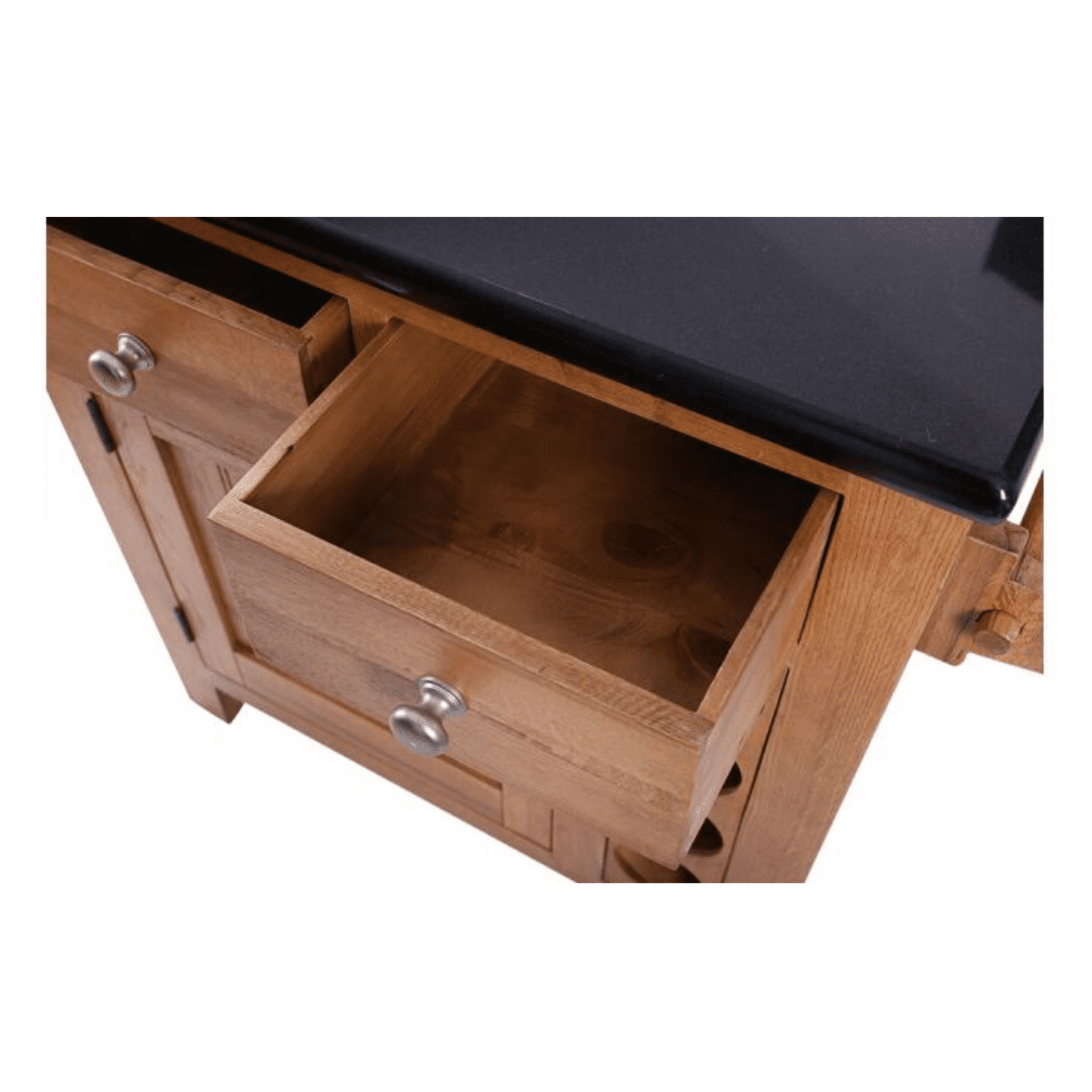 Small kitchen island granite drawer