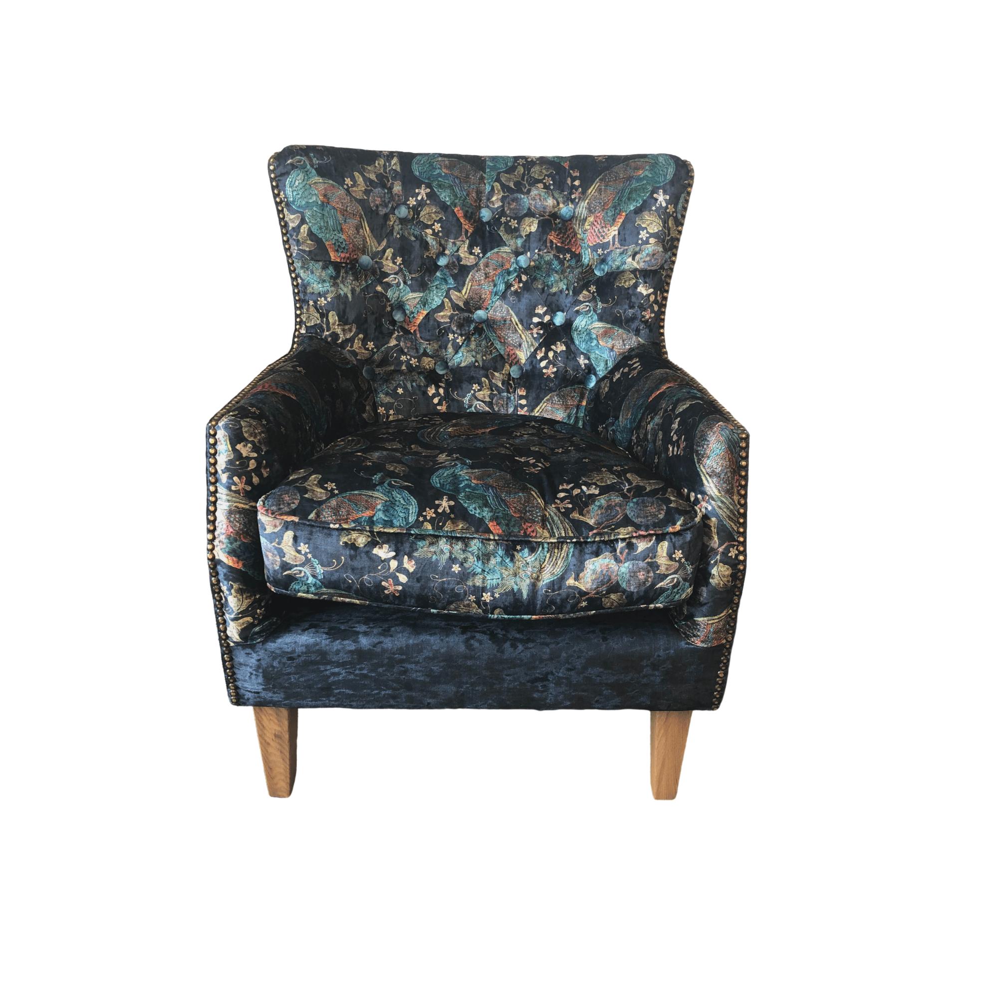 Stanford armchair - Peacock aqua