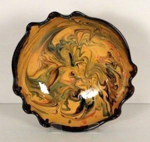 Yellow splashy bowl