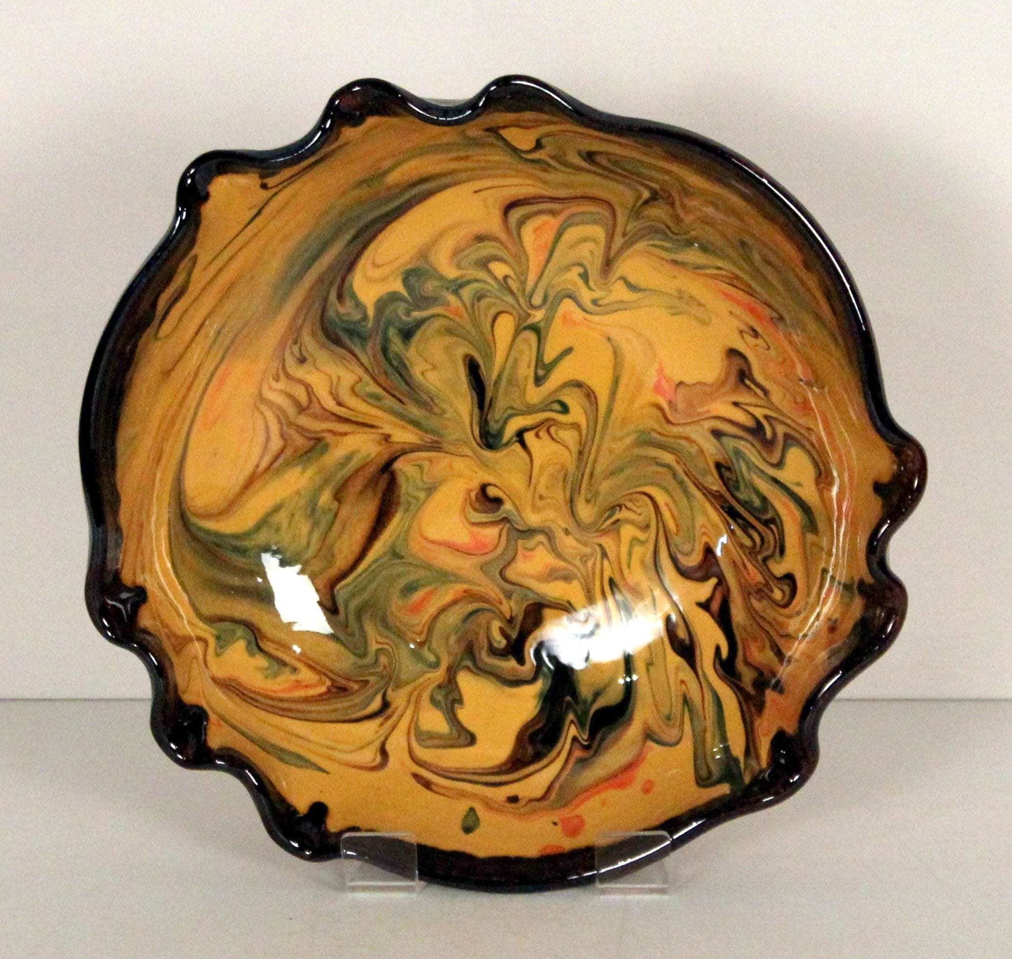 Yellow splashy bowl