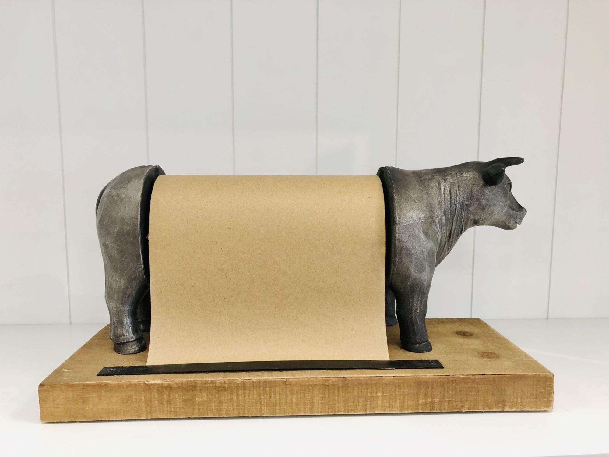 Grey Bull kitchen roll holder 2