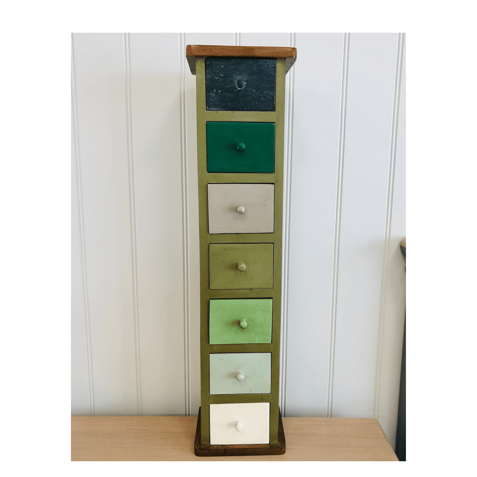 Marthas 7 drawer tall spice chest multi colour