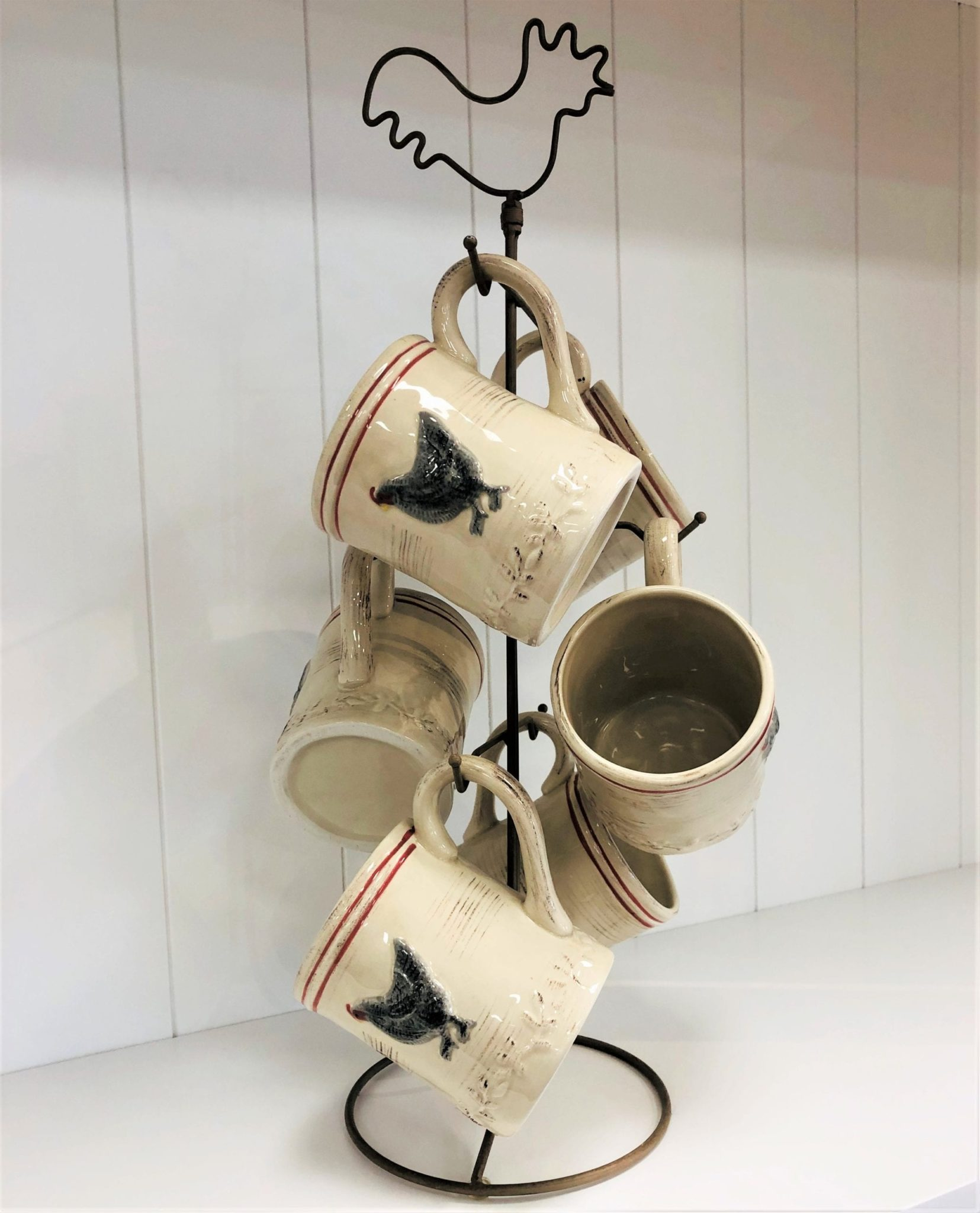 ceramic hen mug tree