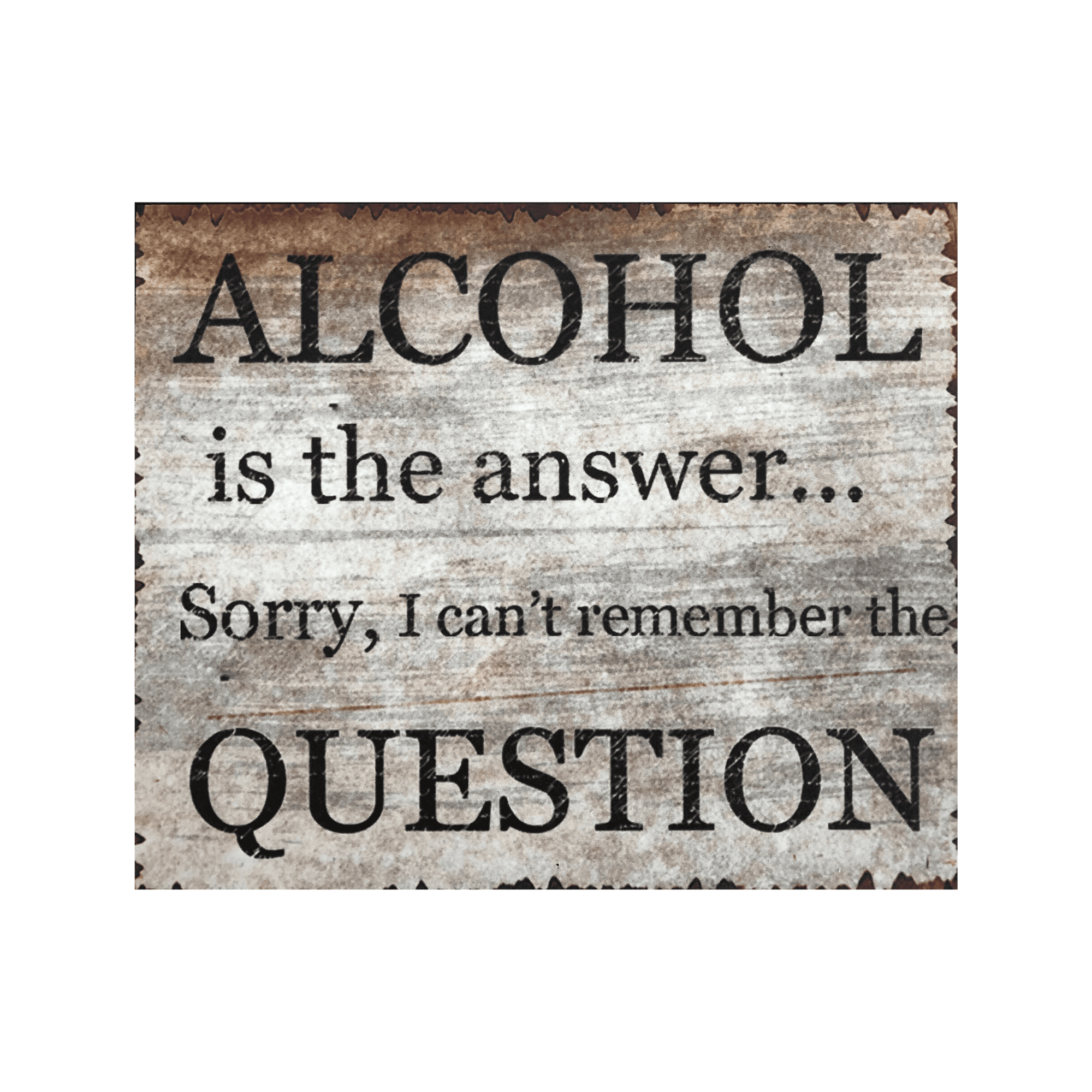 Alcohol wooden sign