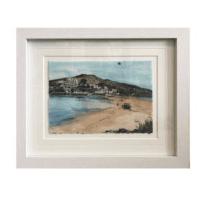 Burgh Island framed art canva