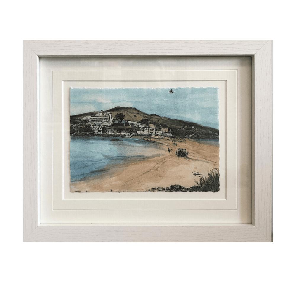 Burgh Island framed art canva