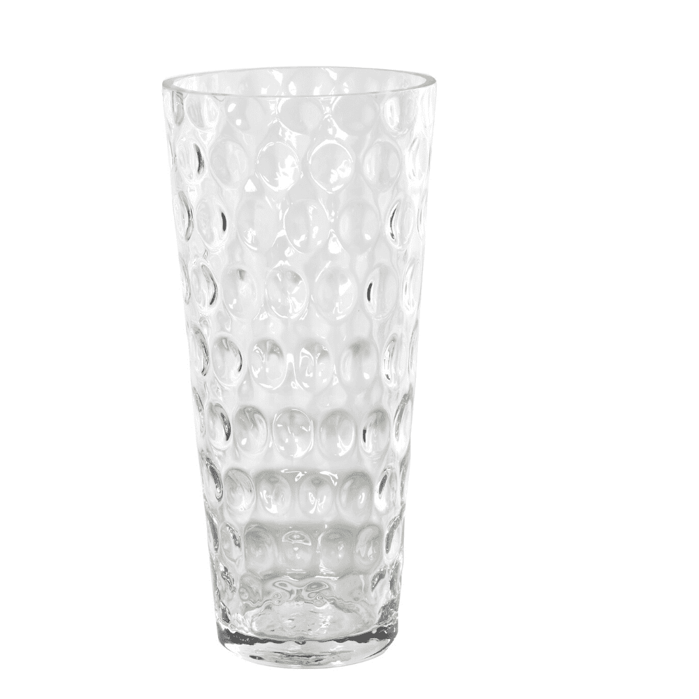 Dimpled clear vase canva