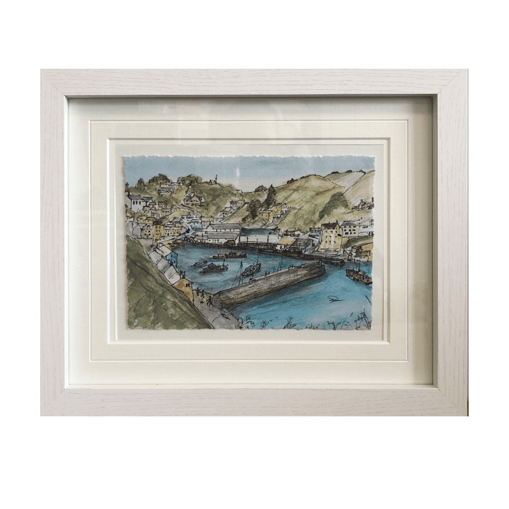 Polperro framed art canva