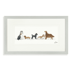 Top hat and tails framed art
