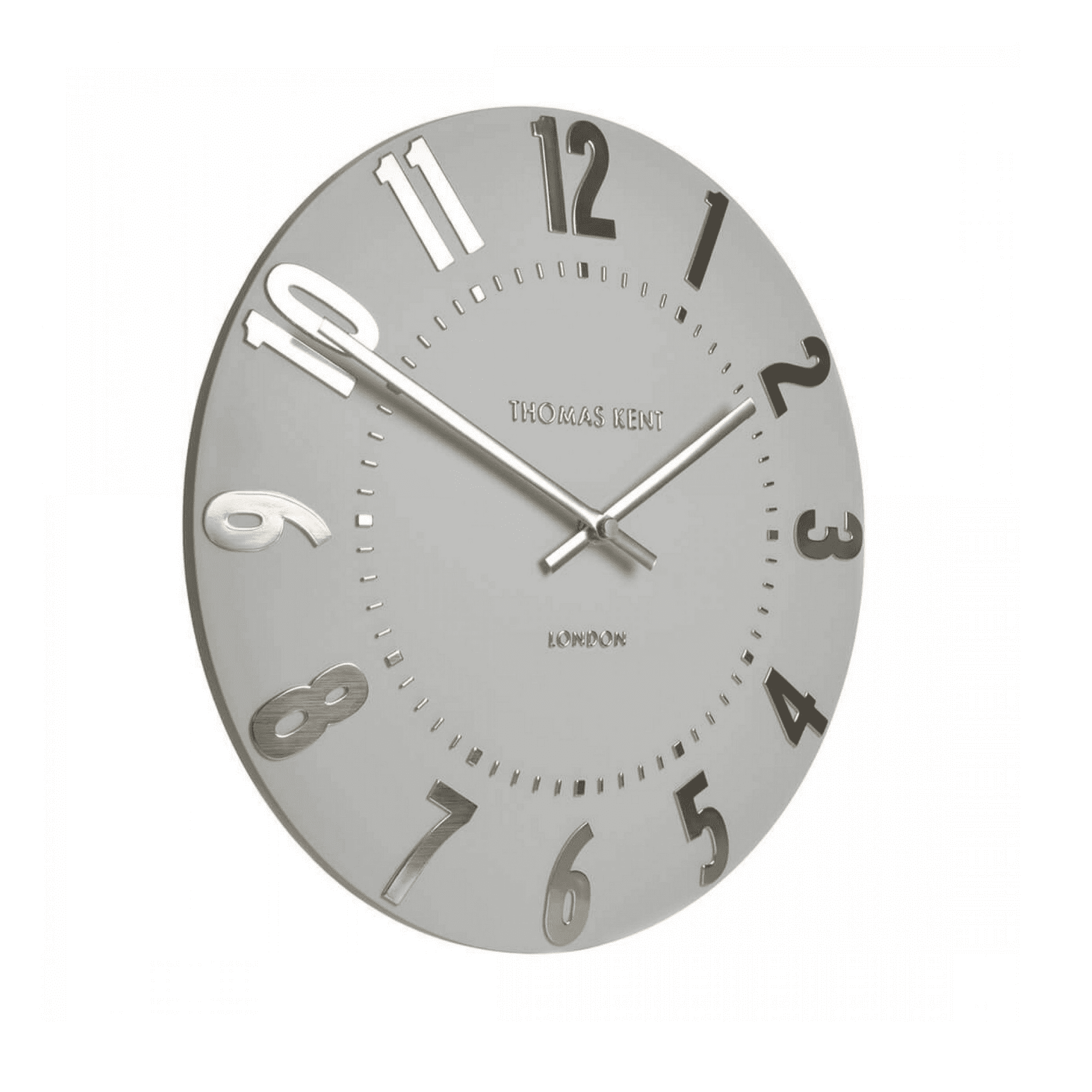 12inch Mulberry wall clock silver cloud