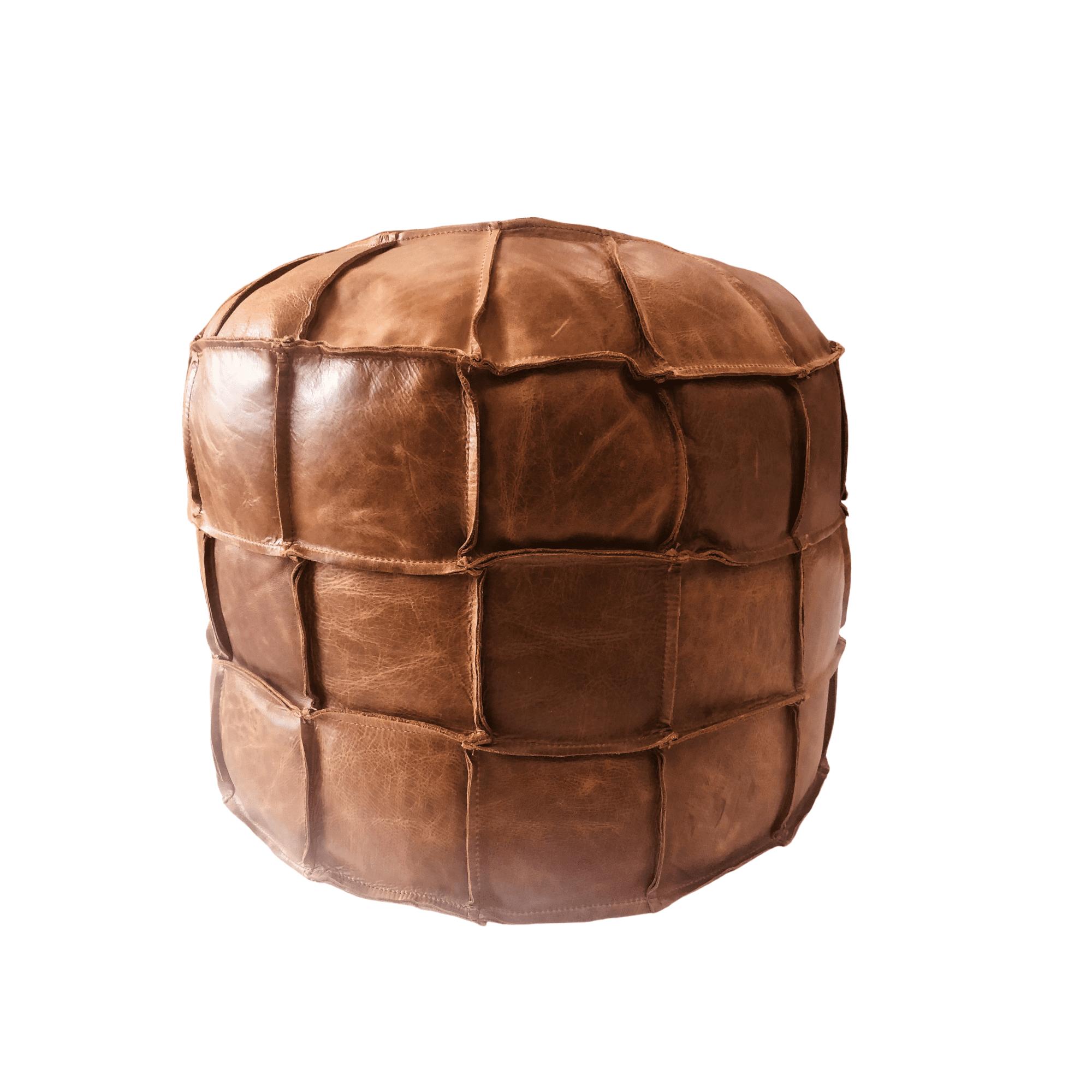 Vintage sofa company Drum Bean Bag Cerato leather