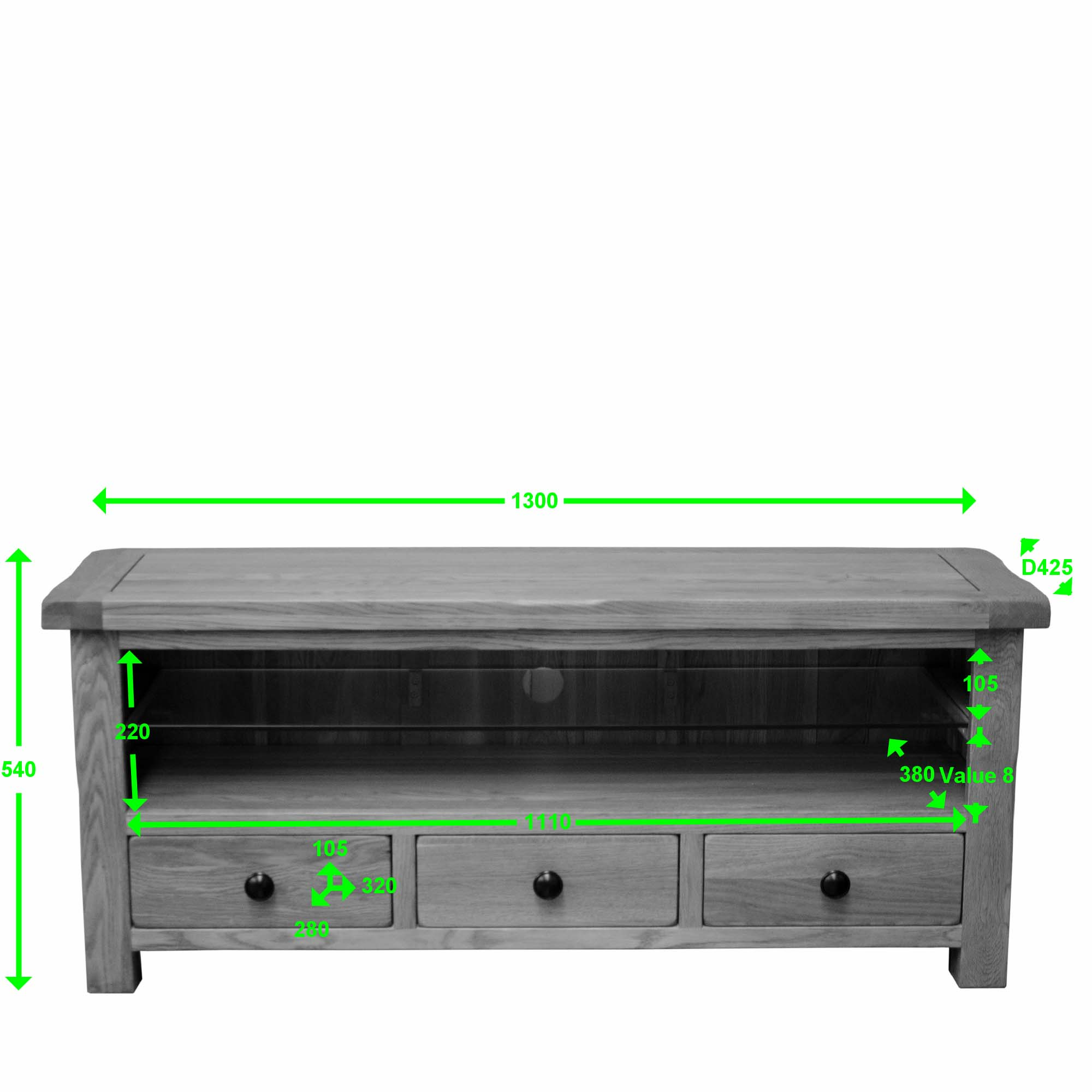 Lavenham oak plasma unit measurements