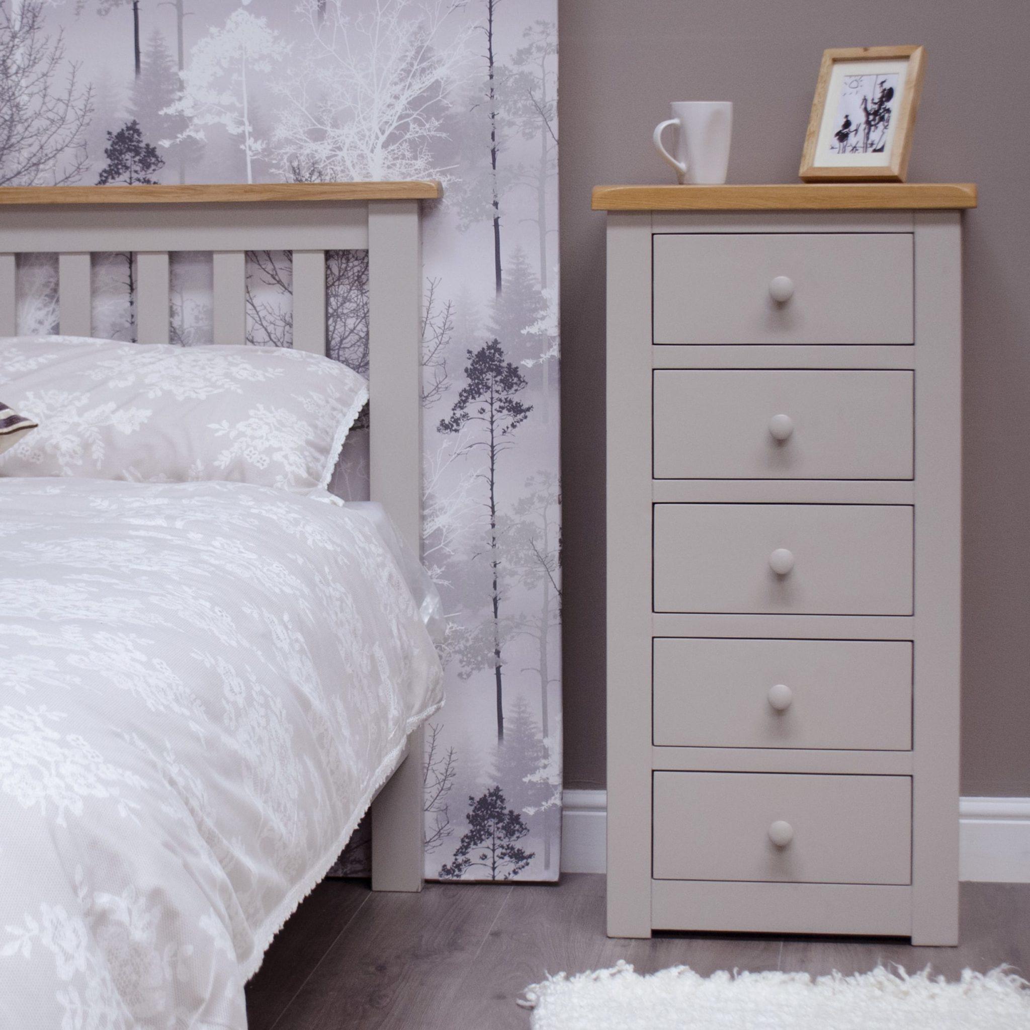 DIA5CH Diamond painted 5 drawer wellington room set