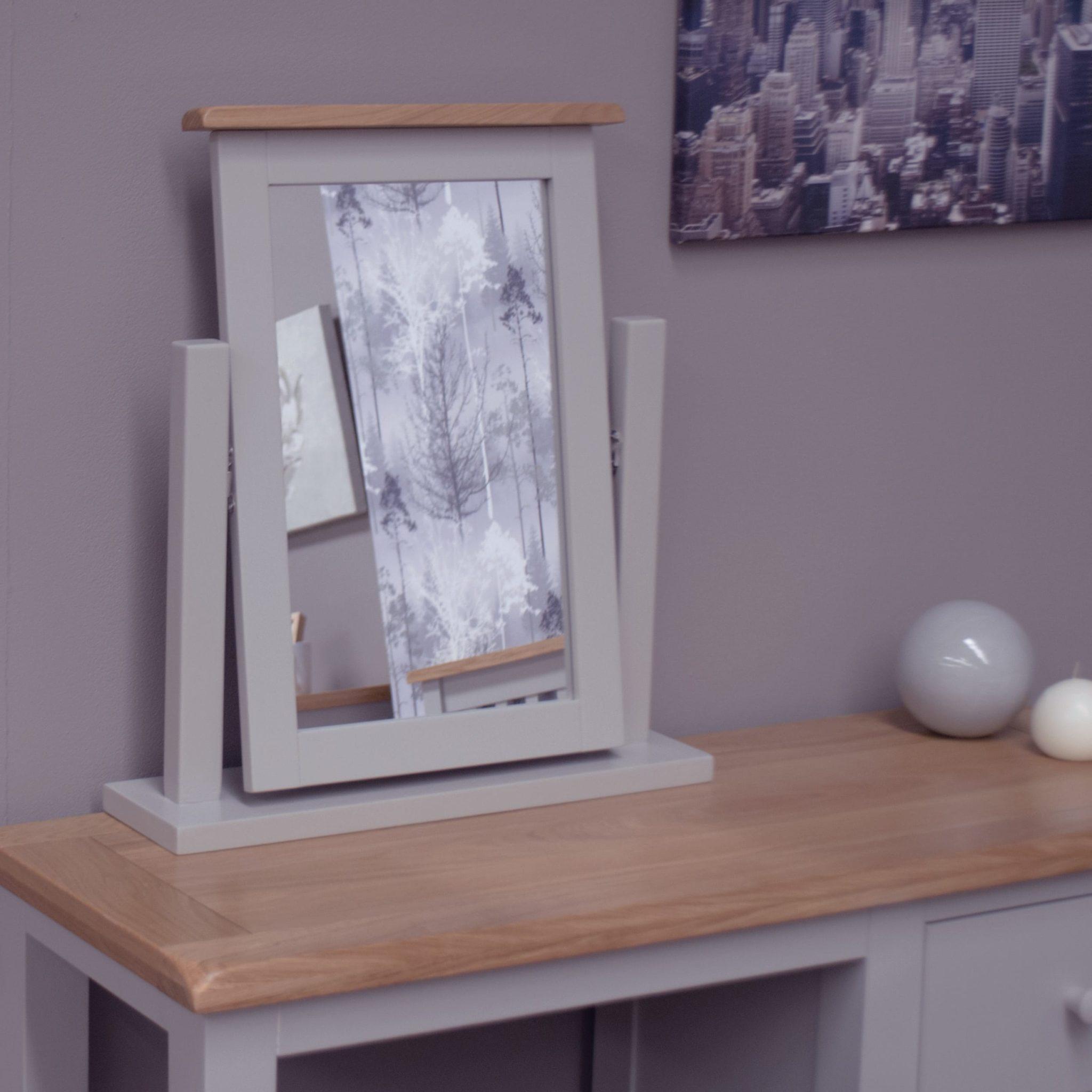 DIADTM Diamond painted dressing table mirror room shot