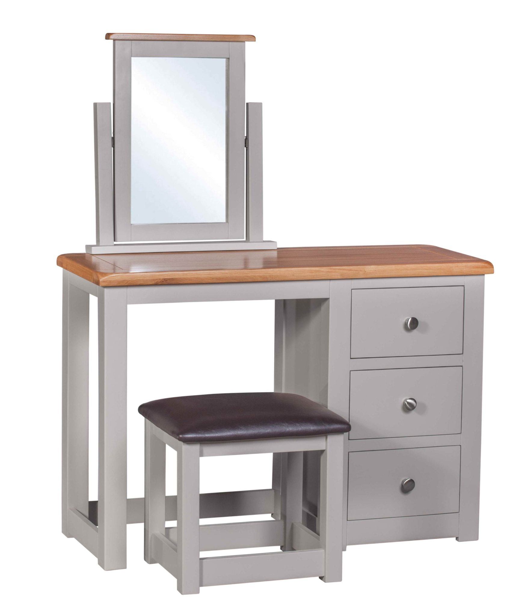 DIADTST Diamond painted dressing table with stool and mirror
