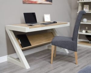 PZDESK Z Design Painted desk natural top
