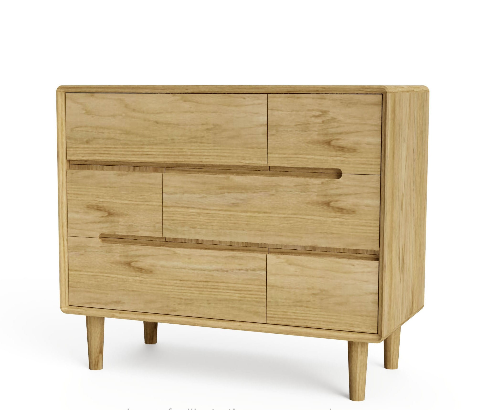 SCA33CH Scandic oak 33 chest