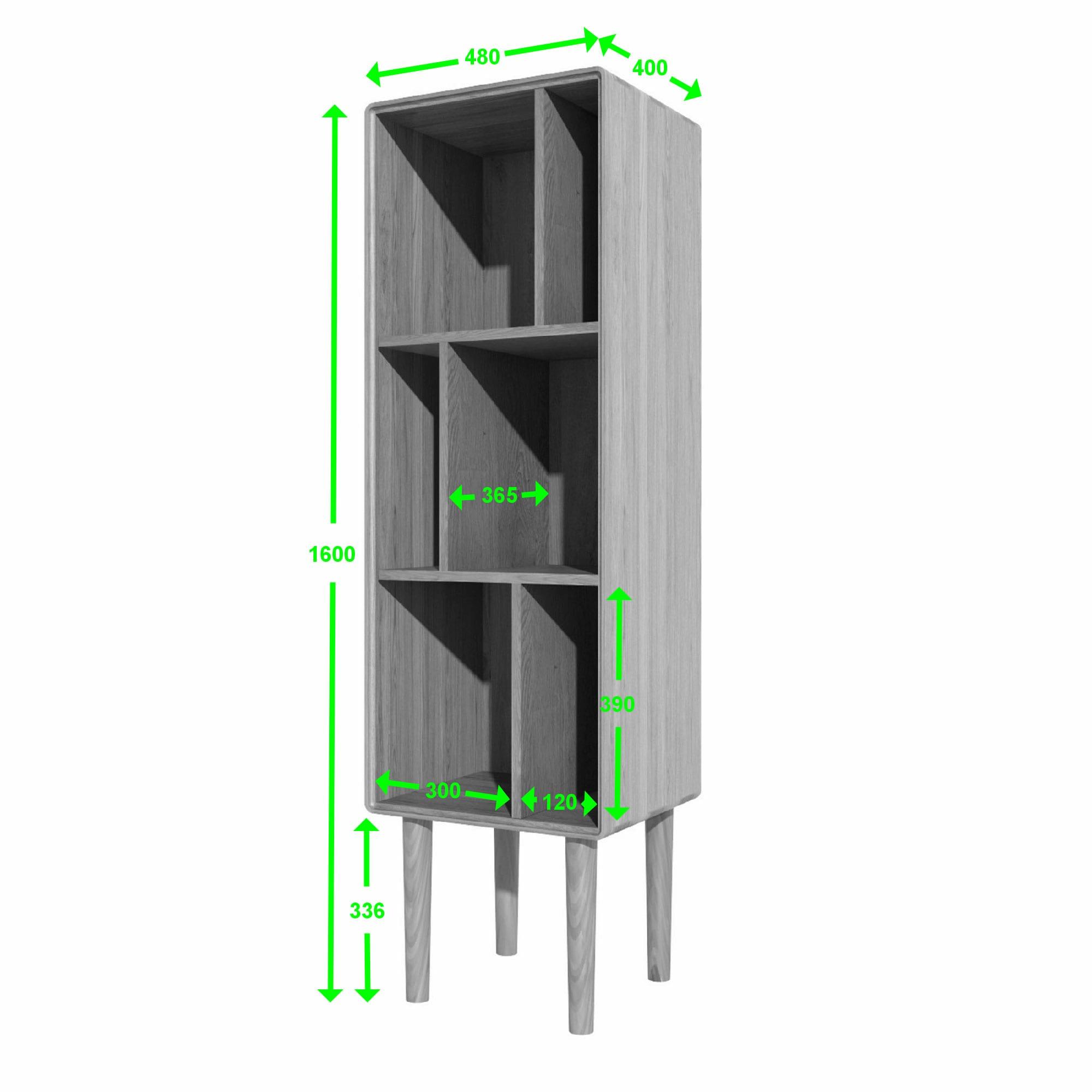 SCANC Scandic oak narrow cabinet measurements