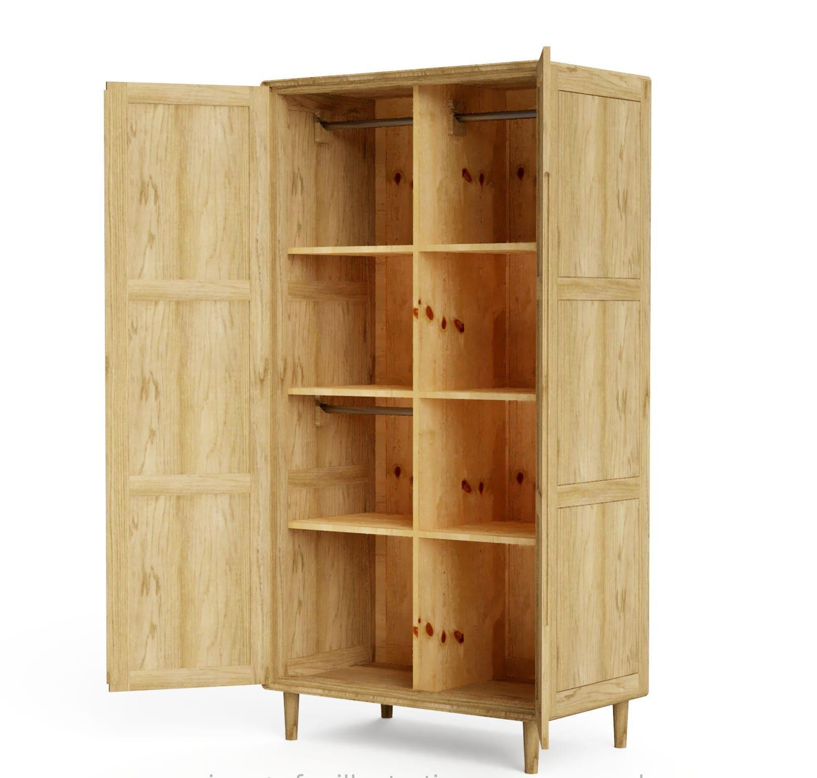 SCAROBE scandic wardrobe open