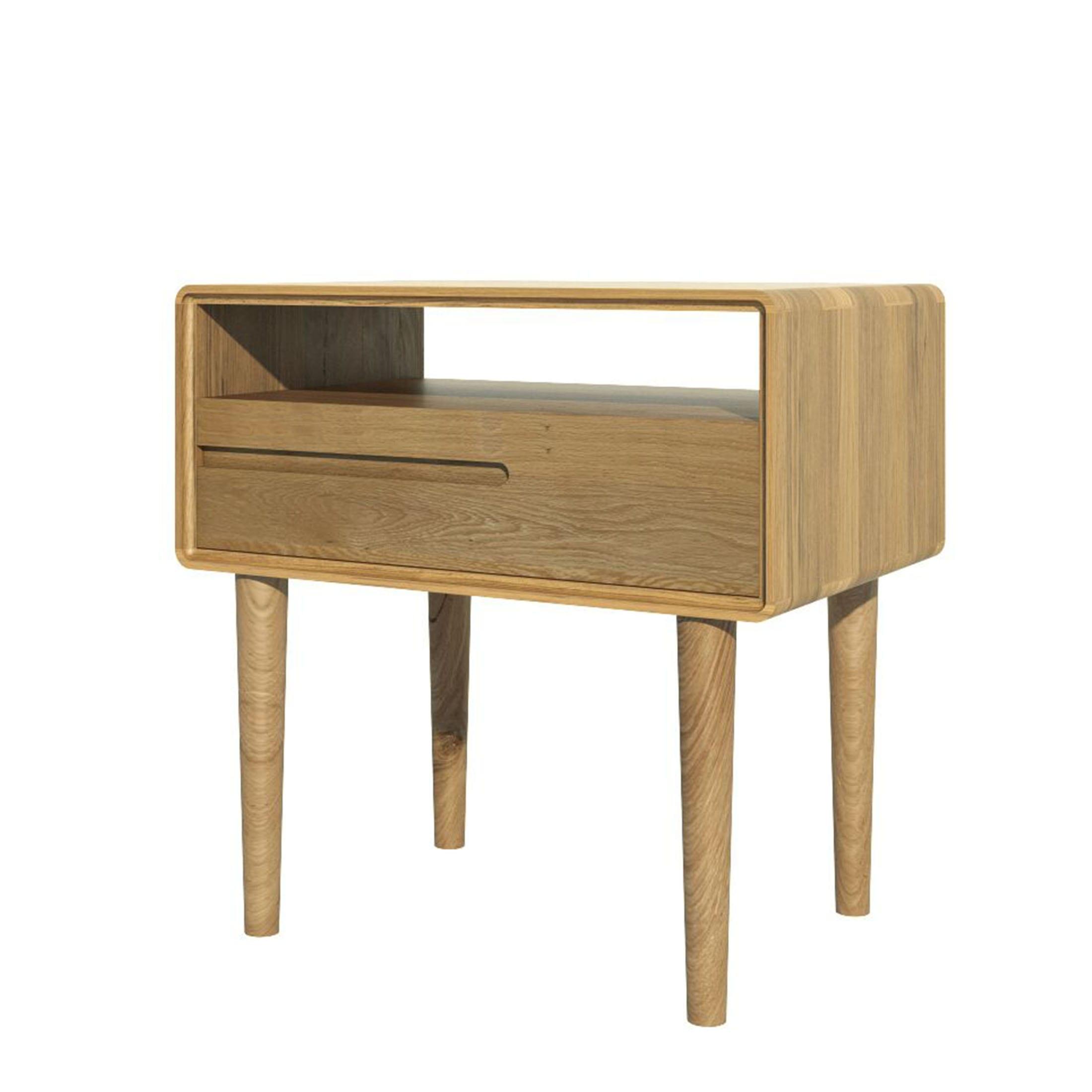 Scantic oak coffee table retro style