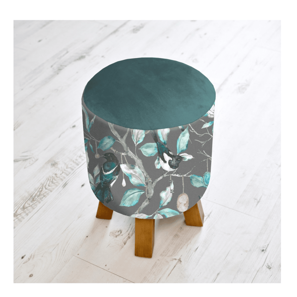 FS200017 voyage maison COLLECTOR ONYX MONTY FOOTSTOOL