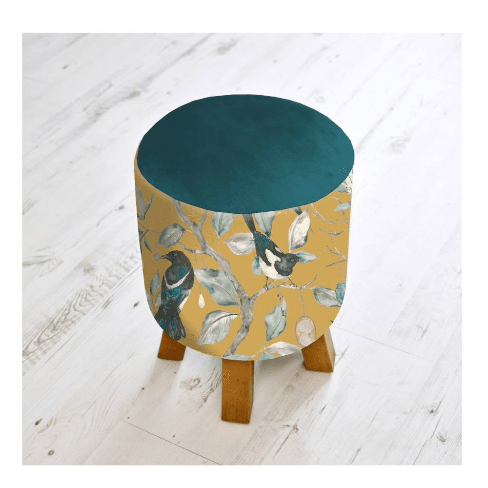FS200018 voyage maison COLLECTOR MUSTARD MONTY FOOTSTOOL