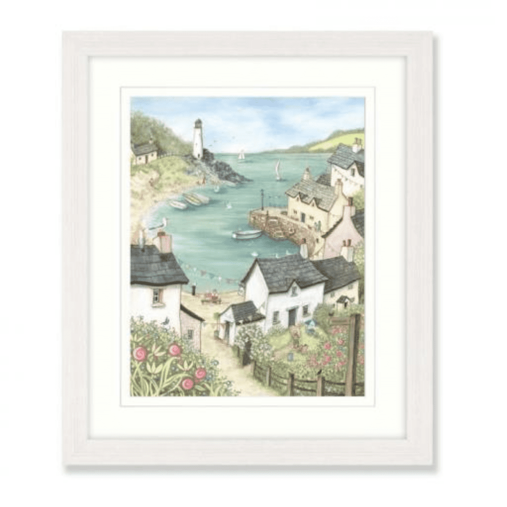 AK10661 Harbour I framed art