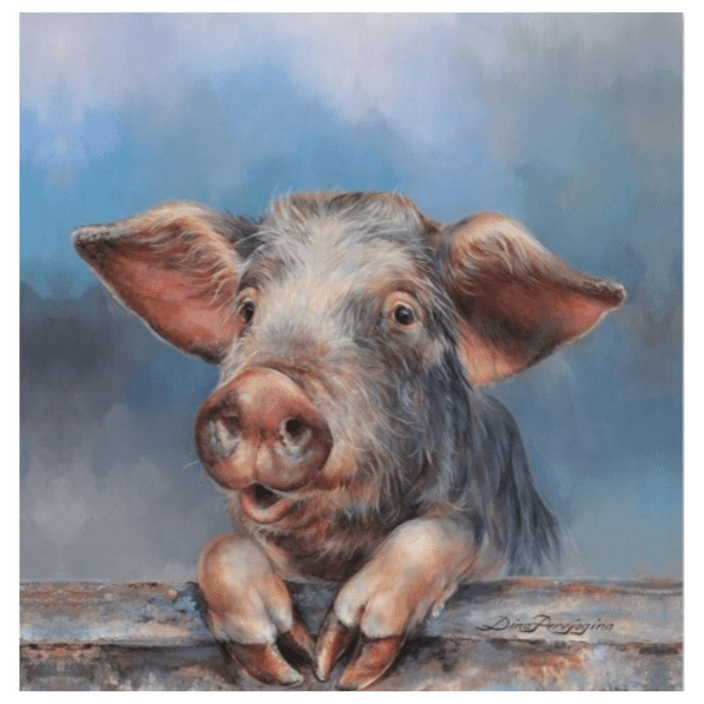 Cheeky oink canvas
