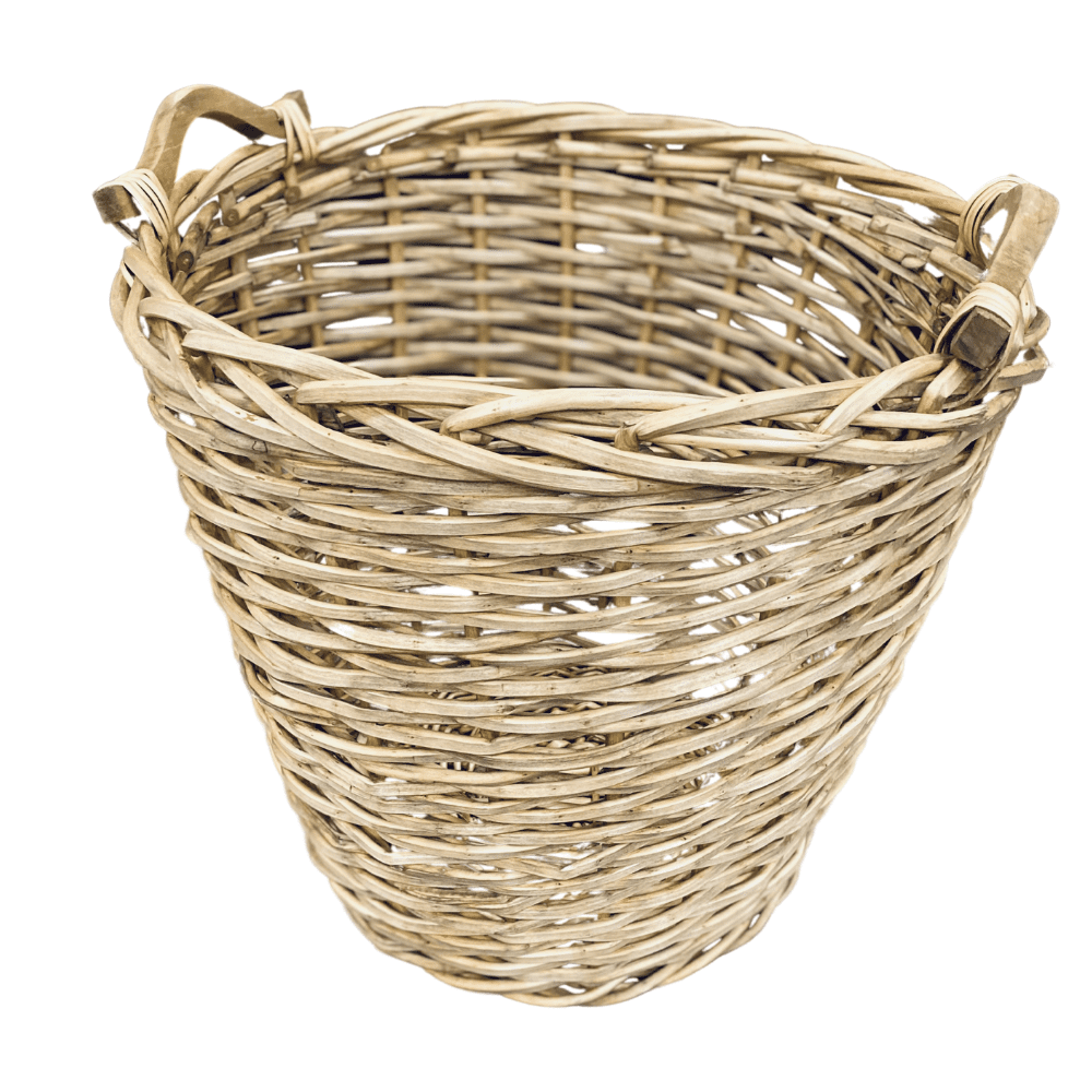 Large willow basket with handles