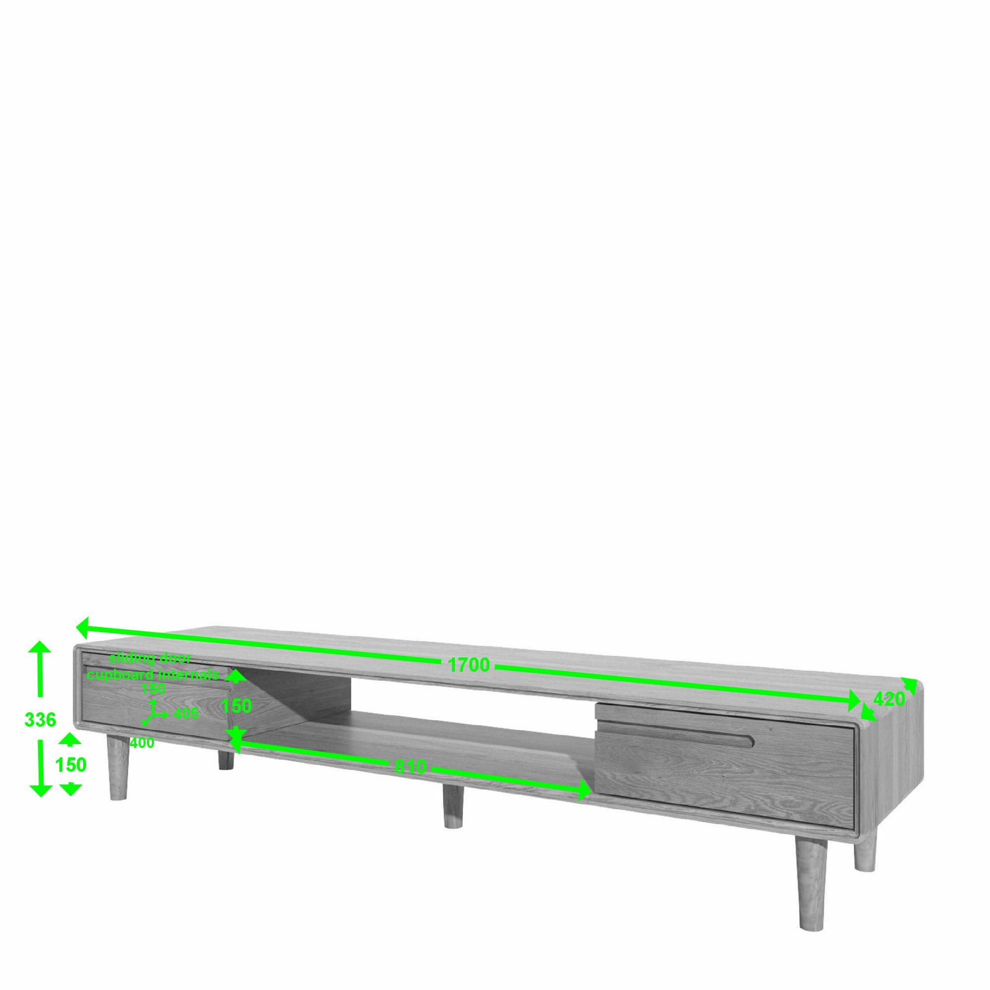 SCAWTV scandic oak wide tv unit measurements