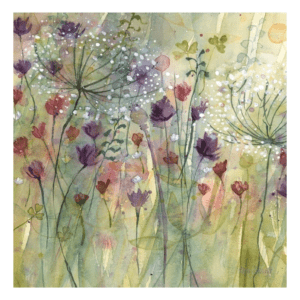 Spring floral pods II canvas art by catherine stephenson