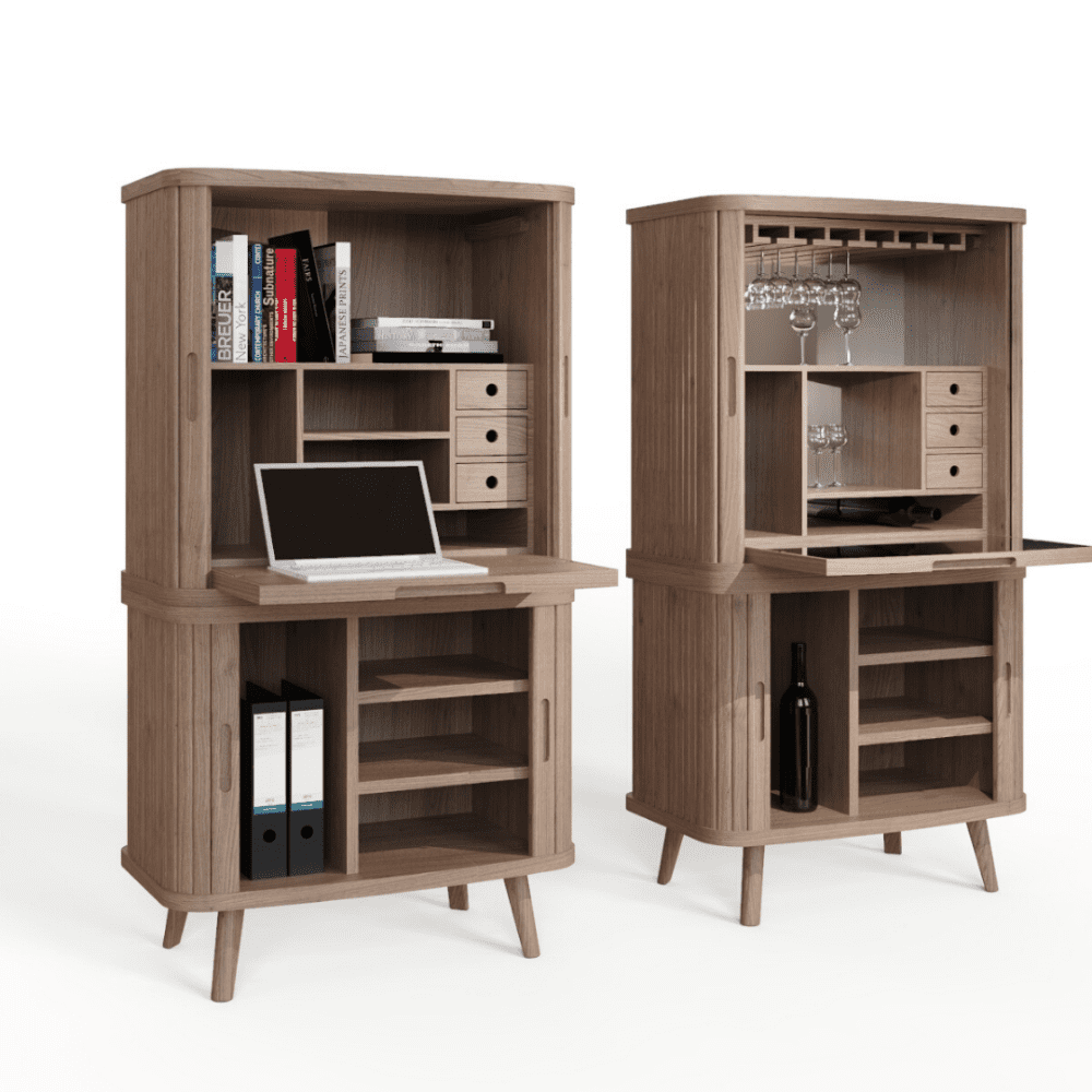 Tambour drinks cabinet / desk