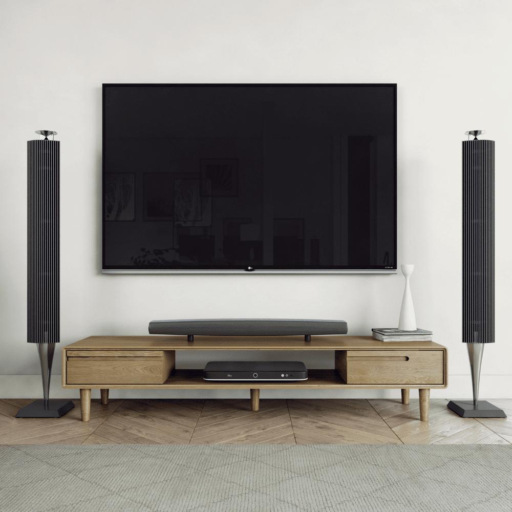 scandic oak large tv unit room set