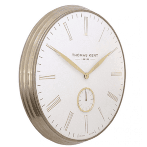 AMC19011 Thomas kent 19inch greenwich wall clock brass ivory