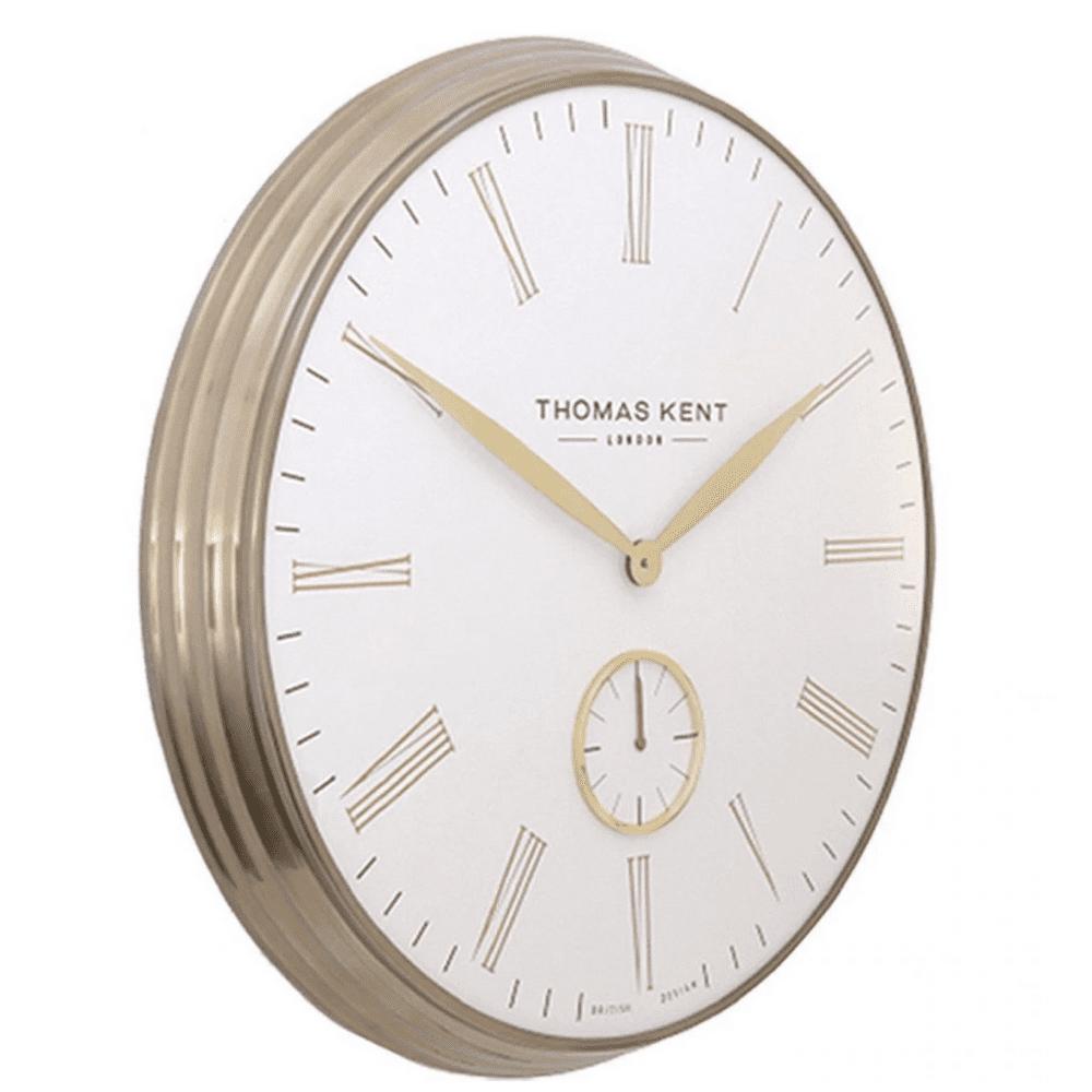 AMC19011 Thomas kent 19inch greenwich wall clock brass ivory