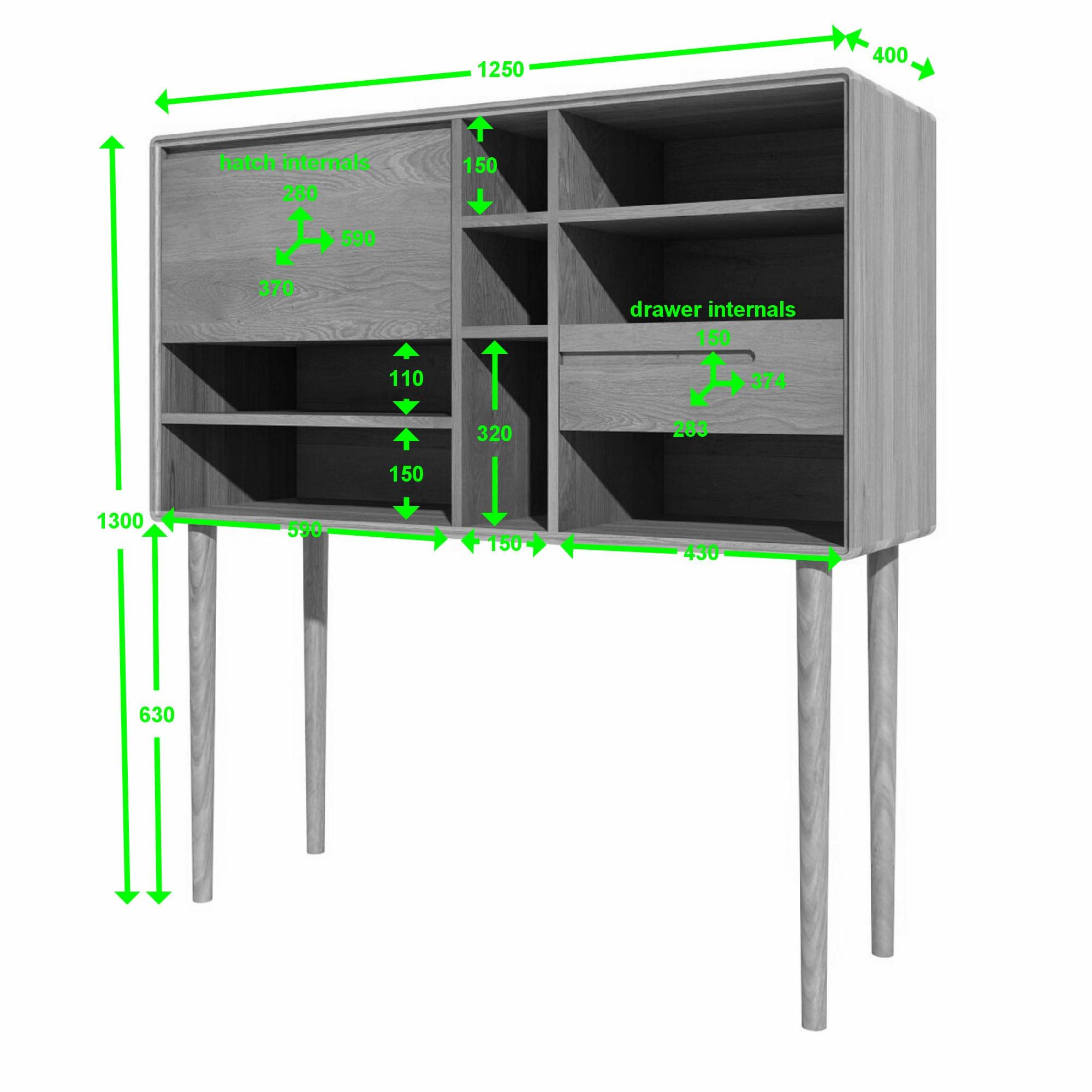 SCAWC wide cabinet measures