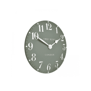 Thomas Kent 12inc mantle clock seagrass