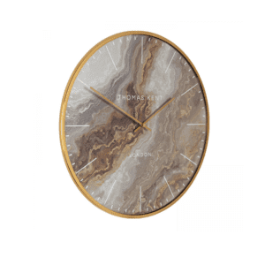 Thomas Kent 26inch glacier oyster wall clock gold