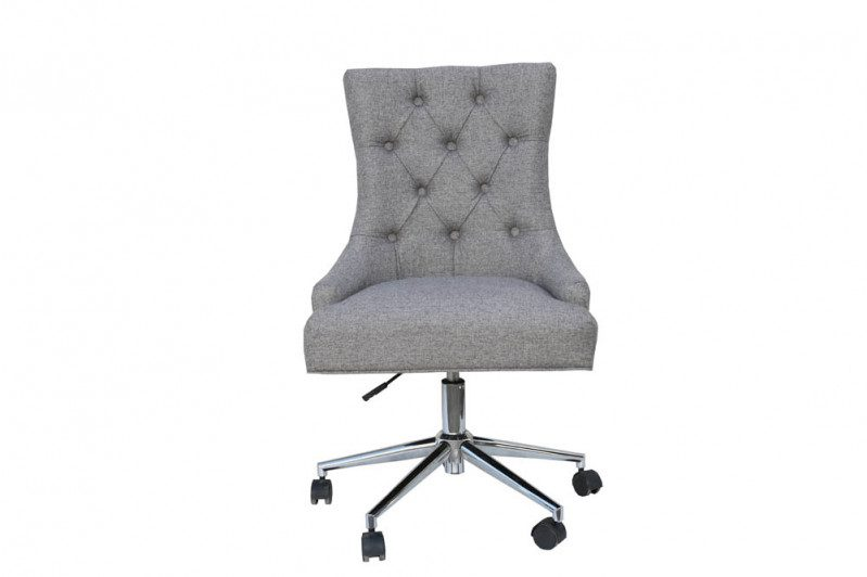 grey winged office chair 1