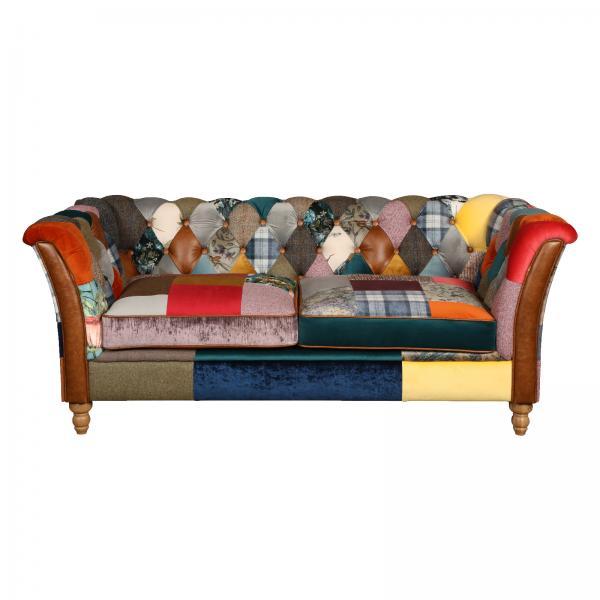 Rutland patchwork sofa 3 seater V1