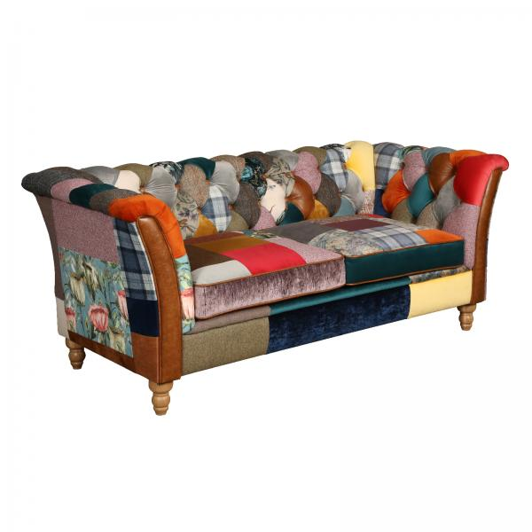 Rutland patchwork sofa 3 seater V2