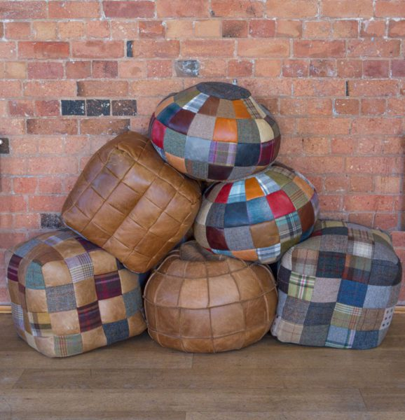 Patchwork Beanbags and Footstalls