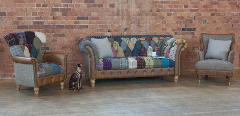 Patchester Sofa - Harlequin Patchwork Chesterfield Sofa